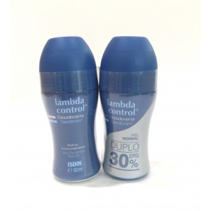 ISDIN DESODORANTE LAMBDA CONTROL PIEL NORMAL DUO SIN ALCOHOL ROLL-ON 50ML