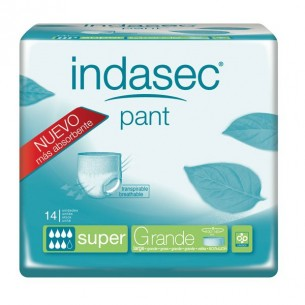 INDASEC PANT SUPER ABSORB INC ORINA DIA ANAT  T- L 10 ABSORB