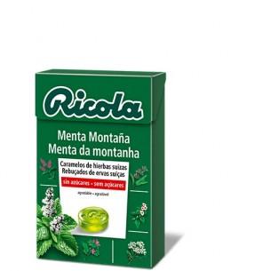RICOLA CARAMELOS EXTRA FUERTES 1 CAJA 50 G SABOR MENTA