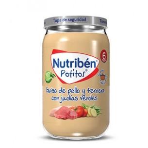 NUTRIBEN GUISO DE POLLO Y TERNERA CON JUDIAS VERDES POTITO 235 G