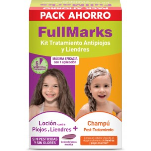 FULLMARKS ANTIPIOJOS Y LIENDRES CHAMPU + LOCION PEDICULICIDA KIT 100+150 ML