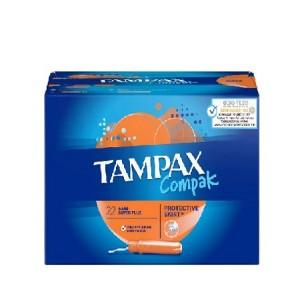 TAMPAX COMPAK TAMPON SUPER PLUS 24 U 100% ALGODON