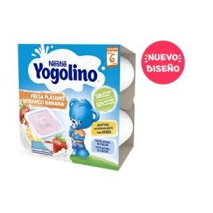 NESTLE YOGOLINO FRESA PLATANO 4 ENVASES 100 G